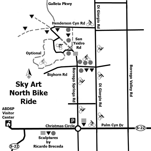 Map to the sculptures